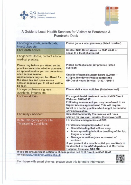 Local Health Service Information