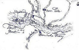 Early sketched map of Pembroke Dock