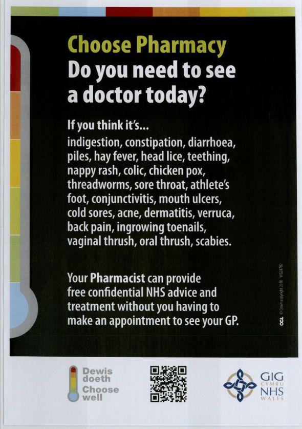 Choose Pharmacy Poster