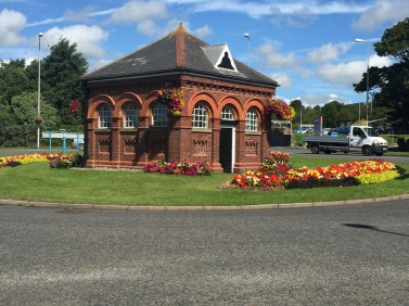 The old Pump House at Criterion Roundabout